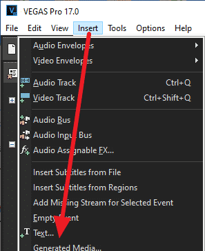 how to add subtitles sony vegas