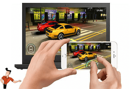 screen mirroring iphone to pc