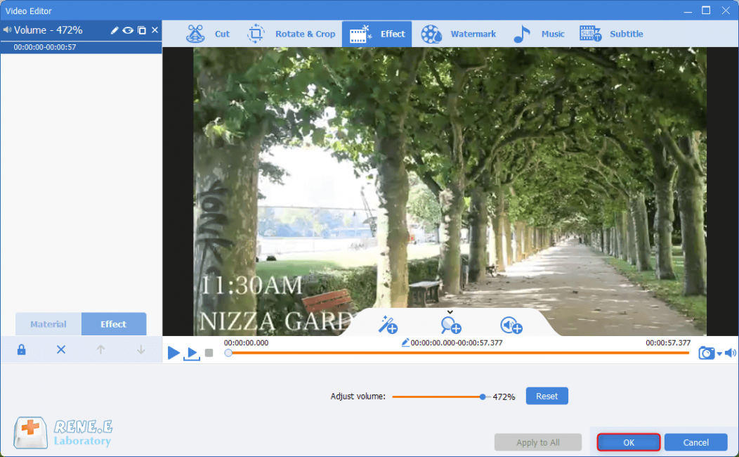 save effect settings in video editor pro