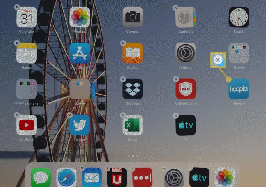 delete apps when ipad won't work