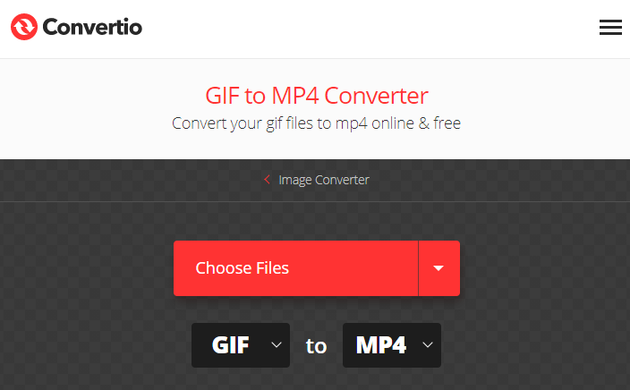 how to convert gif to mp4 on convertio