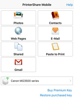 how to print pdf from iphone with printershare mobile