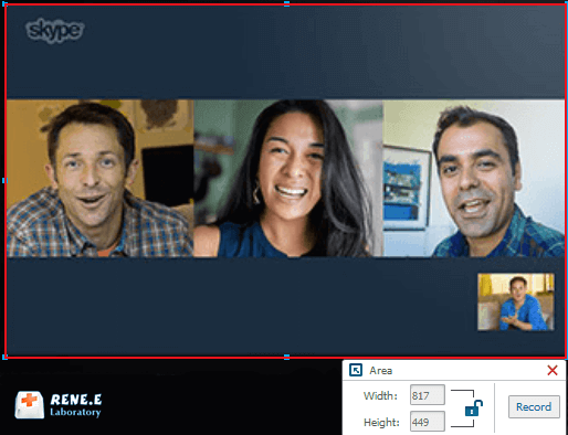 how to record skype video call with renee video editor pro
