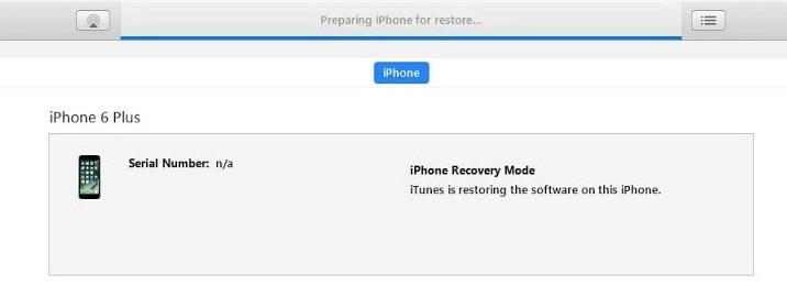 prepare for restoring iphone