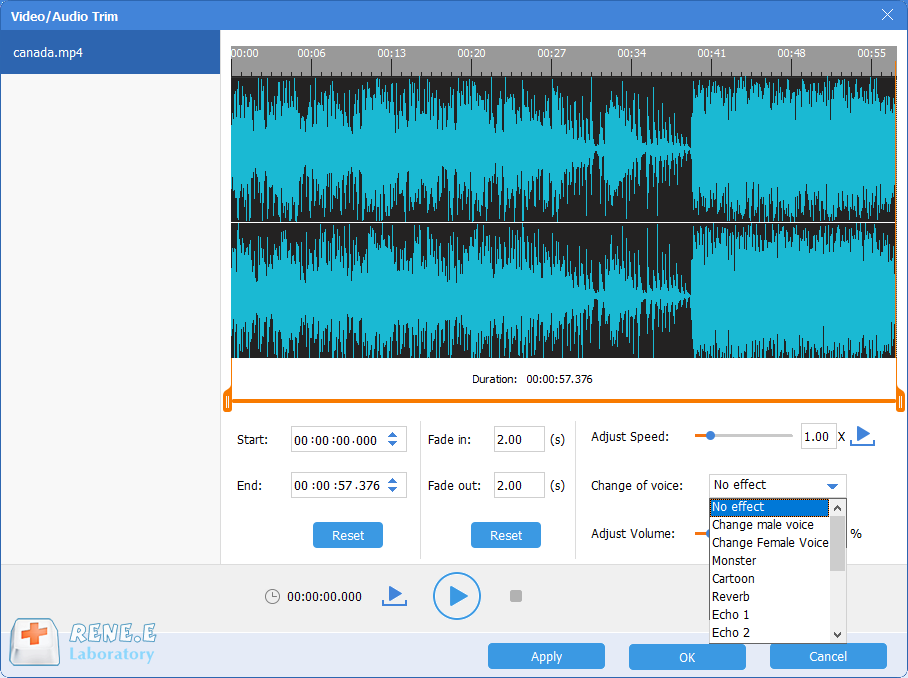 change voice and extract audio from mp4 with renee audio tools