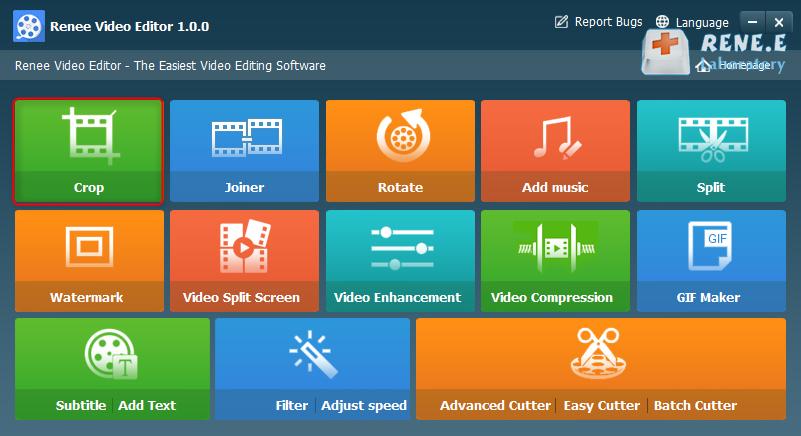 crop video editor