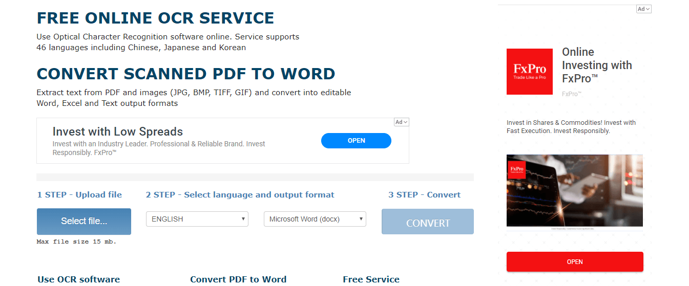 how to convert scanned pdf to word with onlineocr