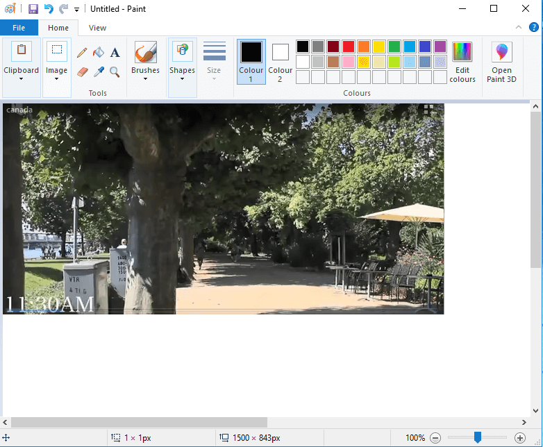 copy and paste image in windows paint