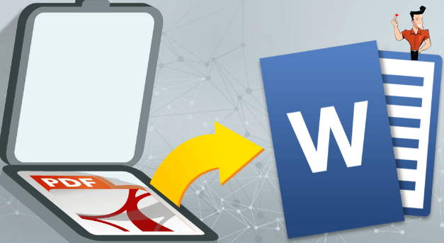 how to convert the scanned pdf to word