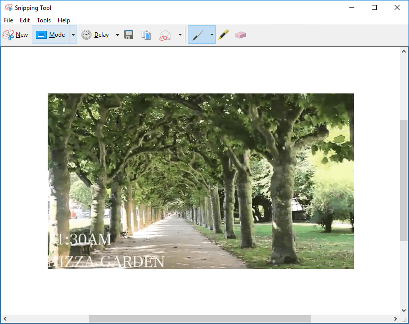 edit screenshots with snipping tool
