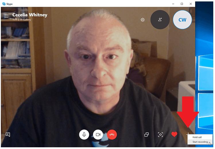 start recording in skype