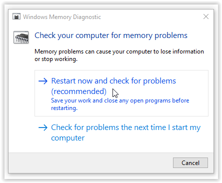 restart now and check for the memory