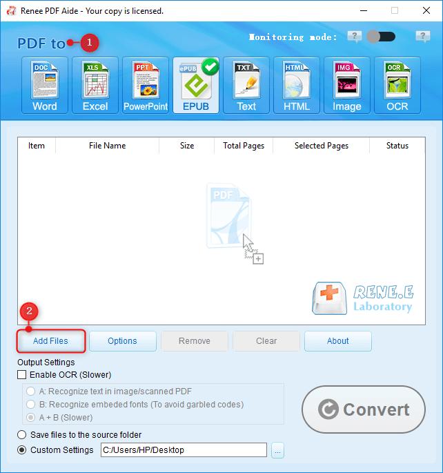how to convert pdf to epub