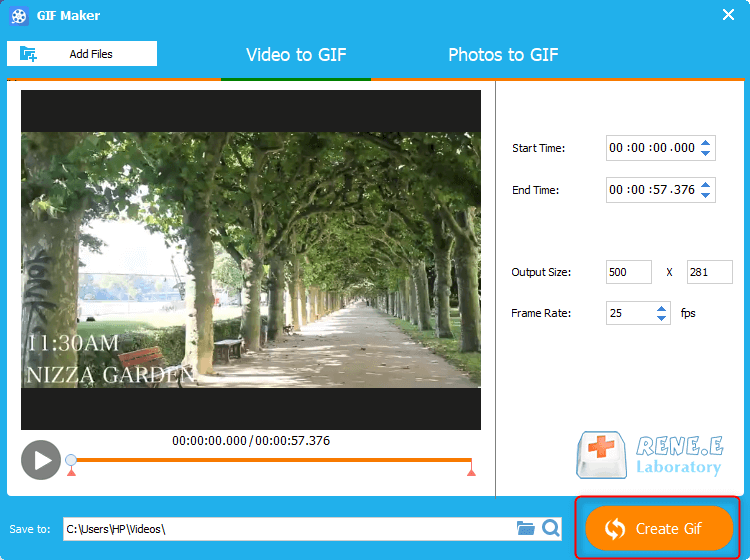 how to convert video to gif with renee video editor