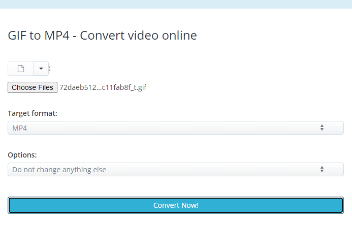 how to convert gif to mp4 on aconvert
