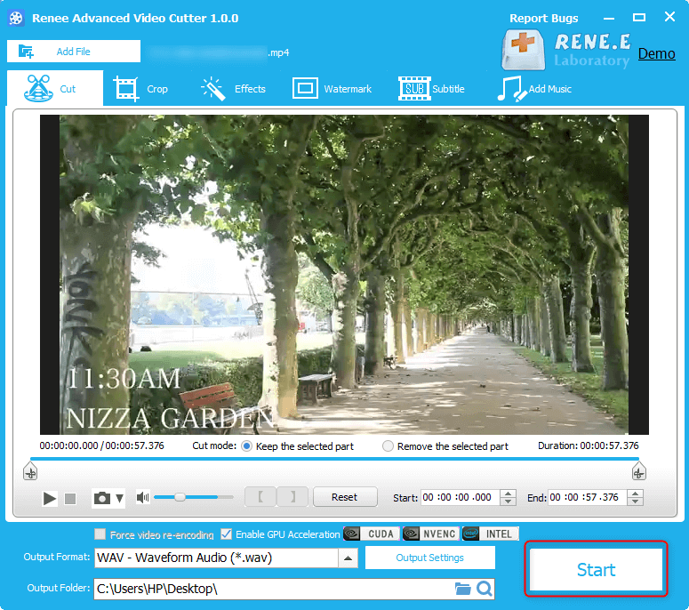 convert mp4 to wav with renee video editor