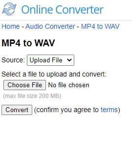 mp4 to wav online converter