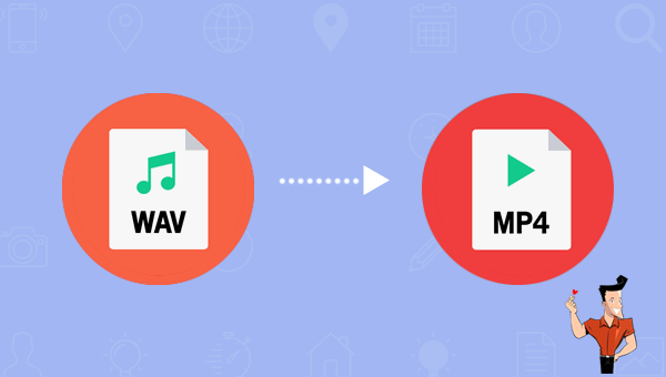 how to convert wav to mp4 with a converter