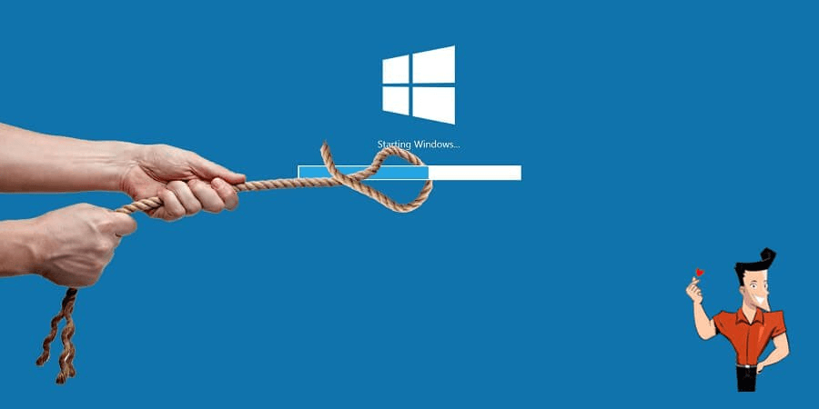 how to solve windows 100 slow startup