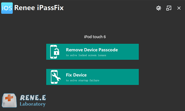 unlock ipod passcode with renee ipassfix