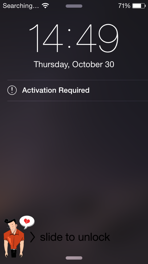 iphone activate suddenly