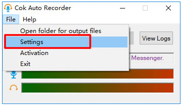 how to use cok auto recorder