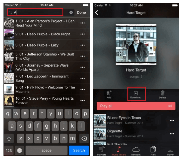 how to download music to iphone with evermusic