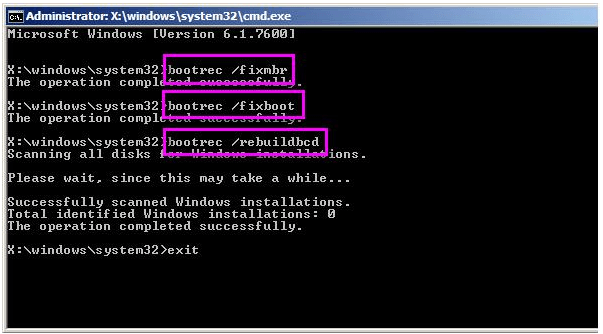 rebuild mbr to fix i/o device error